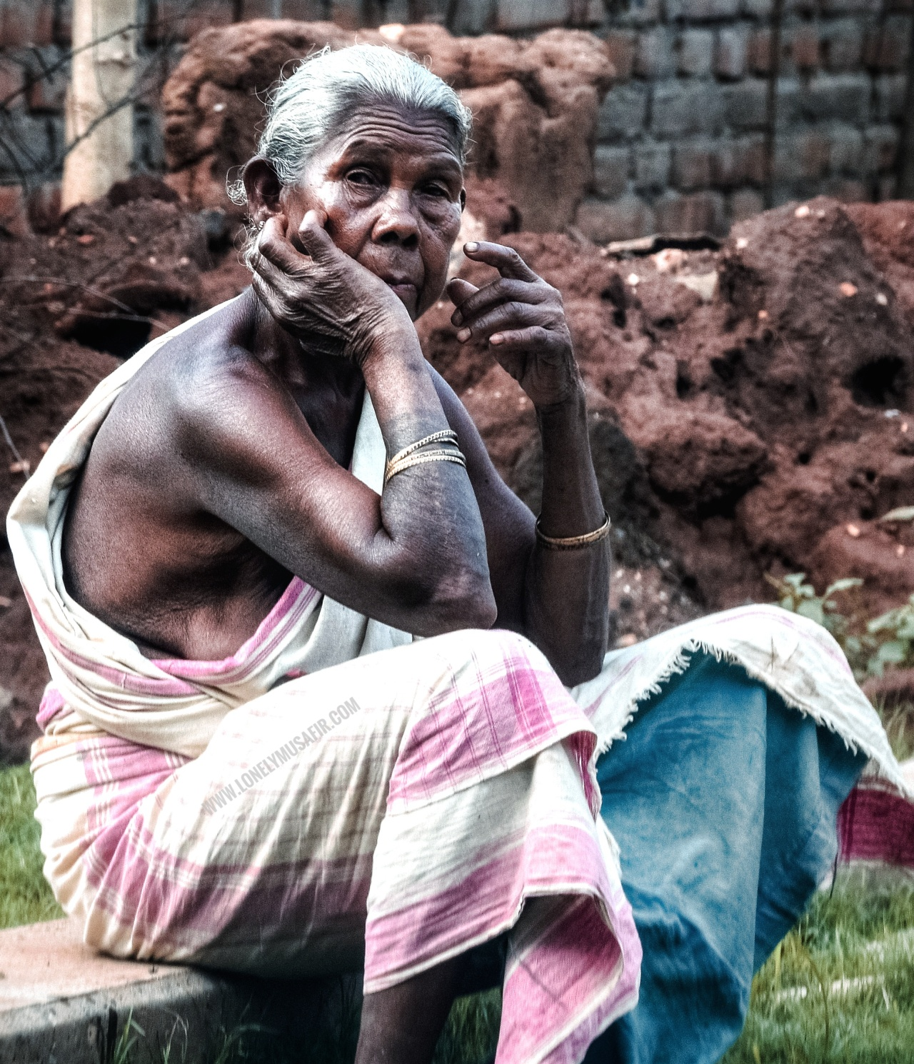 Evening Indolence- An Old Lady from Santhal Tribe