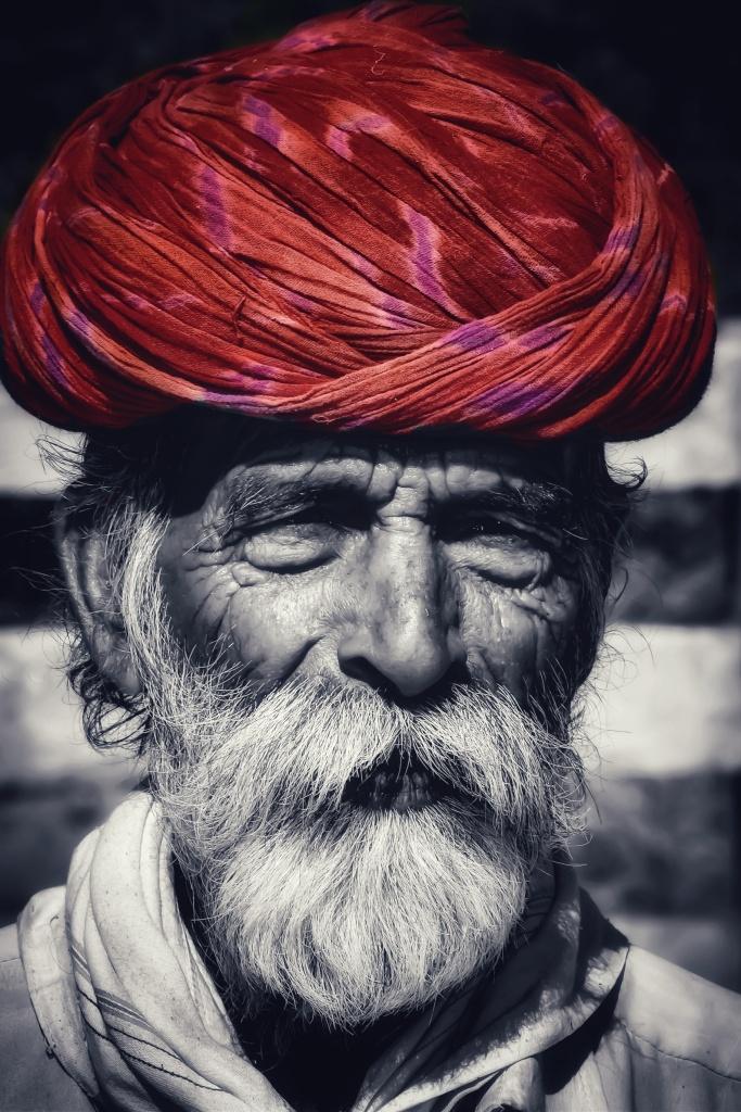 Mewari Old aged man, Kumbhalgarh, Rajasthan